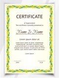 Certificate Potrait color royalty free illustration