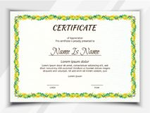 Certificate landscape Template royalty free illustration
