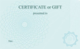 Certificate. Professionally designed certificate, which is fully editable Royalty Free Stock Photos