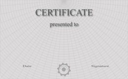Certificate. Professionally designed certificate, which is fully editable Stock Images