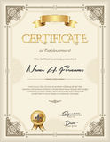 Certificate of Recognition Vintage Frame Portrait Royalty Free Stock Images