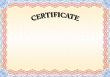Certificate red border 3. Beautiful certificate, graduate, diploma. The  version of the document be scaled to any size without loss of quality Royalty Free Stock Photography