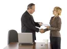 Certificate S Giving Stock Image