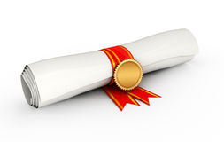 Certificate scroll Royalty Free Stock Images