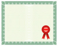Certificate With Seal Royalty Free Stock Photos