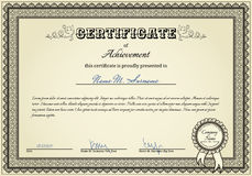certificate sukces Obrazy Royalty Free