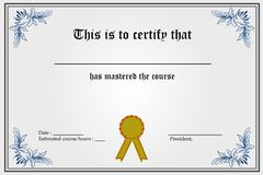 Certificate Template stock illustration