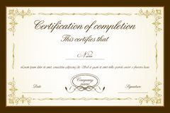 Certificate Template. Illustration of certificate template with floral frame