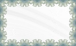 Certificate Template. Blank certificate template ready to be used Stock Images