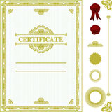 Certificate template. Stock Image