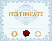 Certificate template. Royalty Free Stock Photography