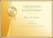Certificate template for achievement, appreciation royalty free illustration
