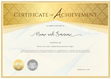 Certificate template for achievement, appreciation, completion o Royalty Free Stock Photo