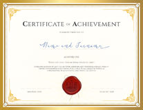 Certificate template for achievement, appreciation, completion o Royalty Free Stock Image