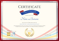 Certificate template for achievement, appreciation or participation Stock Photo