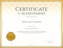 Certificate template for achievement, appreciation, participation Royalty Free Stock Photo