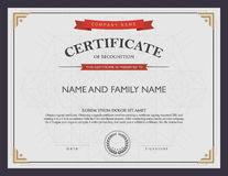 Free Certificate Template And Element. Royalty Free Stock Photo - 50691405