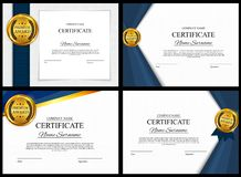 Certificate template Background Collection Set. Award diploma design blank. Vector Illustration