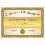 Certificate template black and gold Stock Images