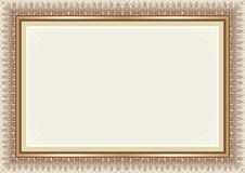 Certificate Template - brown and gold color Royalty Free Stock Photos