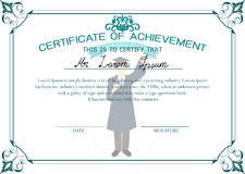 Certificate template. Certificate of achievement. Graduate student certificate Royalty Free Stock Image