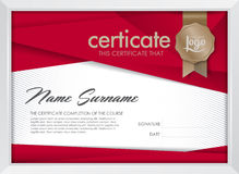 Certificate. Template with clean and modern pattern