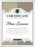 Certificate Royalty Free Stock Photography
