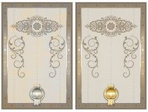 Certificate template with decorative and guilloche elements. royalty free illustration