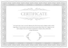 Certificate. Template diploma currency border. Royalty Free Stock Image