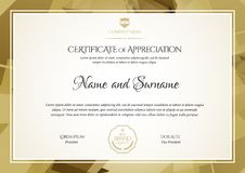 Certificate. Template diploma currency border. Award background Gift voucher. Vector illustration royalty free illustration