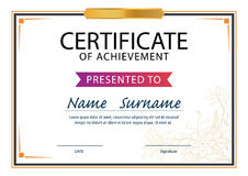 Certificate template,diploma layout,A4 size Royalty Free Stock Image