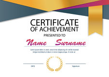 Certificate template,diploma layout,A4 size royalty free illustration