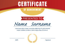 Certificate template,diploma layout,A4 size Royalty Free Stock Photography