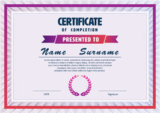 Certificate template,diploma layout Royalty Free Stock Image