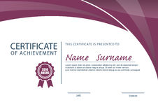 Certificate template,diploma layout Royalty Free Stock Photo