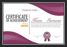 Certificate template,diploma layout Royalty Free Stock Photography