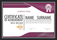 Certificate template,diploma layout Stock Photo