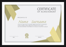 Certificate template,diploma layout Stock Images