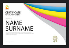 Certificate template,diploma layout Stock Photography