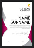 Certificate template,diploma layout Royalty Free Stock Images