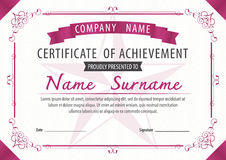 Certificate template,diploma,Letter size ,vector Stock Photos
