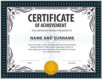 Certificate template,diploma,Letter size ,vector Royalty Free Stock Photography