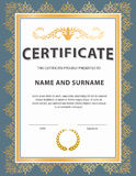 Certificate template, diploma, Letter size , vector royalty free illustration