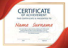 Certificate template,diploma ,A4 size Stock Image