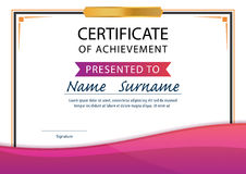 Certificate template,diploma,A4 size ,vector Stock Photography