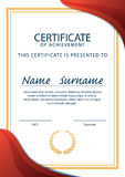 Certificate template,diploma,A4 size ,vector Stock Images