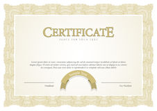 Certificate. Template diplomas, currency. Royalty Free Stock Photo