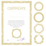 Certificate. Template diplomas currency Royalty Free Stock Photo