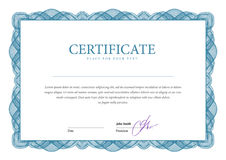 Certificate. Template diplomas currency Stock Photo