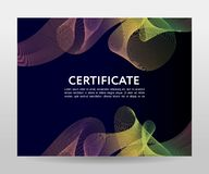 Certificate. Template diplomas, currency. Vector gradient frame